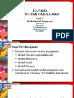 Tajuk 6 Model-Model Pengajaran