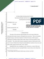 CrunchPad (Interserve v. Fusion Garage) Denial of Preliminary Injunction