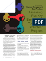 Volunteer Best Practices and Assessment