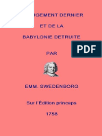 Du Jugement Dernier - Swedenborg