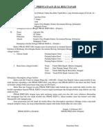 Surat Pernyataan Jual Beli Tanah.......Pak Anton Wae Laku. Parut