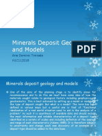 Minerals Deposit Geology and Models