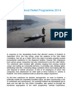 Kashmir Flood Relief Programme 2014
