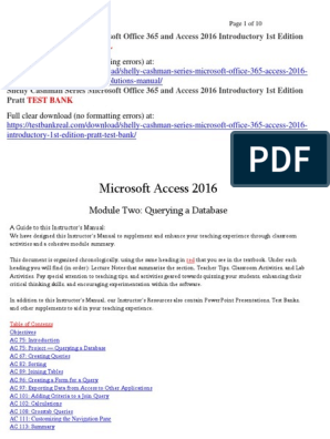 Shelly Cashman Series Microsoft Office 365 and Access 2016