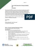 Syllabus, Non-Destructive Testing, NDTE 1010 (1)