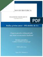 Italia 3 Trim 2017 - Pil Debito & Co