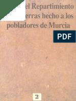 Libro Del Repartimiento de Las Tierras Hecho a Los Pobladores de Murcia 0