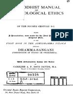 Rhys Davids - A Buddhist Manual of Psychological Ethic, Dhammasangani.pdf