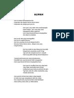 Aliyah Puisi