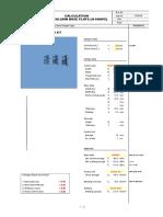 Column Base Plate (Hinge Type)