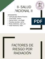 Factores de Riesgo Radiación