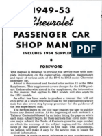 1949 - 1954 Chevrolet Chevy Shop Manual
