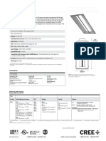CR24 LED Architectural Troffer Spec Sheet