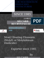 Mosi2 Heating Elements (MolyD or Molybdenum Disilicide Manufacturerd by Silcarb