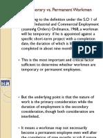 Temporary vs. Permanent Workmen
