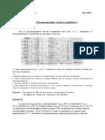 Série 4 Chromato - Qualitative