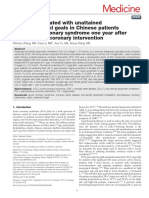 Factors Associated With Unattained LDL Cholesterol Goals in Chinese Patients With Acute Coronary Syndrome One Year After Percutaneous Coronary Intervention