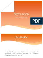 DESTILACIÓN TIPOS