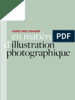 Code des usages en matière d'illustration photographique