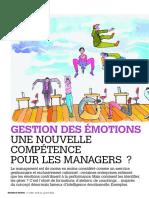 GESTION DES ÉMOTIONS UNE NOUVELLE COMPÉTENCE POUR LES MANAGERS ?