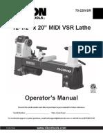 Rikon lathe Manual 70-220VSR