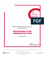 PRE COURSE BOOKLET - Intorduction to the Administrator Tool