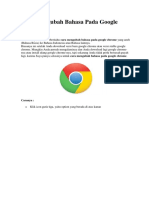 Cara Mengubah Bahasa Pada Google Chrome