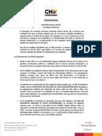 Comunicado Auditoria Externa-noviembre 2017