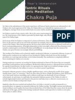 NY Immersion Sri Chakra Puja