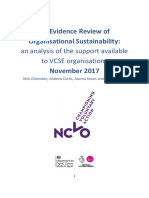 Evidence review of organisational sustainability (November 2017)