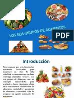 Los Seis Grupos de Alimentos Presentacion222222