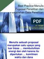 Pelatihan Proposal Penelitian