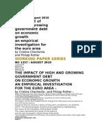 Ex Debt Working Paper Series