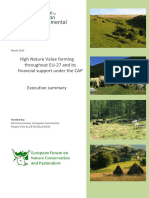 High Nature Value farming  throughout EU-27 and its  financial support under the CAP