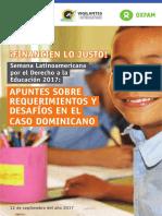 Apuntes sobre Requerimientos y desafíos en el caso dominicano
