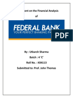 (Federal Bank - a financial analysis