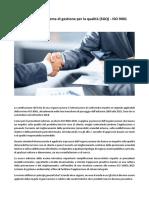Certificazione Sistema Gestione Qualità_ISO9001