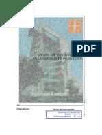Manual de los procedimientos de gerencia de producción