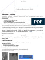 Endodontic Obturation