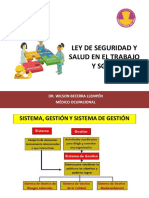 Ley de Seguridad y Salud en El Trabajo y Sistema de Gestión