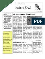 January-February 2007 Prairie Owl Newsletter Palouse Audubon Society