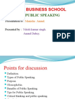 Ppt on Public Speaking