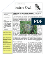 February-March 2010 Prairie Owl Newsletter Palouse Audubon Society