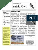 February-March 2009 Prairie Owl Newsletter Palouse Audubon Society