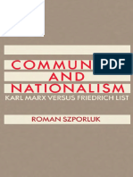 Szporluk Communism and Nationalism Karl Marx and Friedrich List