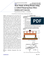 Flexure and Shear Study of Deep Beams using Metakaolin Added Polypropylene Fibre Reinforced Concrete