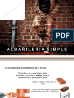 Albañileria Simple