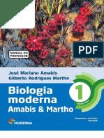 Biologia Moderna Volume 1 Amabis e Martho, livro do professor.