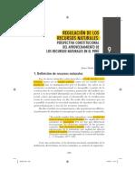 L1. Regulación de Los Recursos Naturales