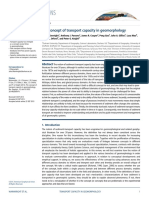 The Concept of Transport Capacity in Geomorphology